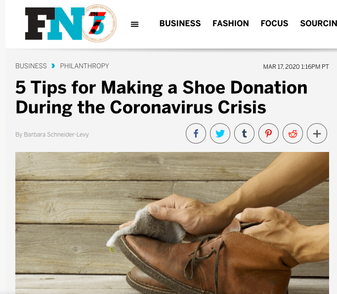 5 Tips for Making a Shoe Donation During the Coronavirus Crisis