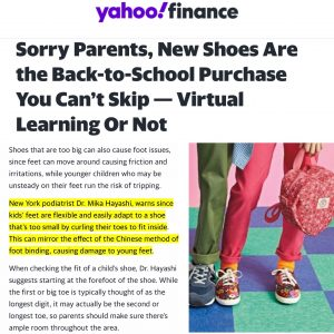 """Back-to-School Tips"" from Dr Hayashi were shared in the yahoo! finance"